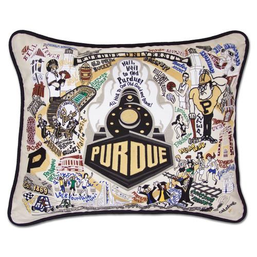 Catstudio Purdue University Collegiate Embroidered Pillow