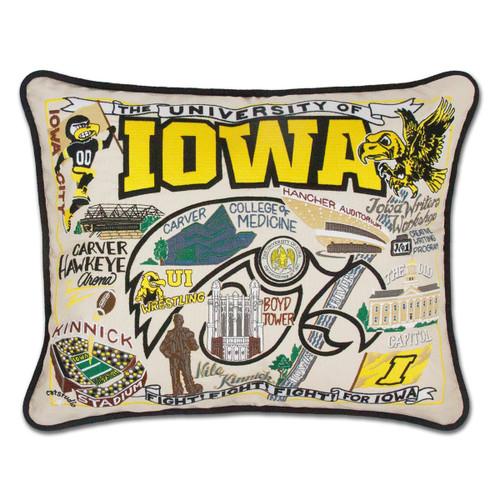 Catstudio Iowa University of Collegiate Embroidered Pillow