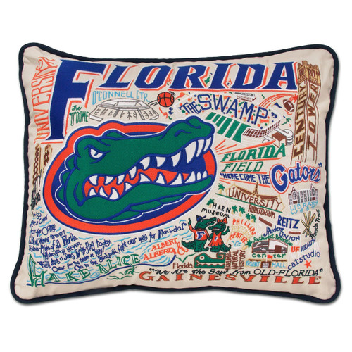 Catstudio Florida University of Collegiate Embroidered Pillow