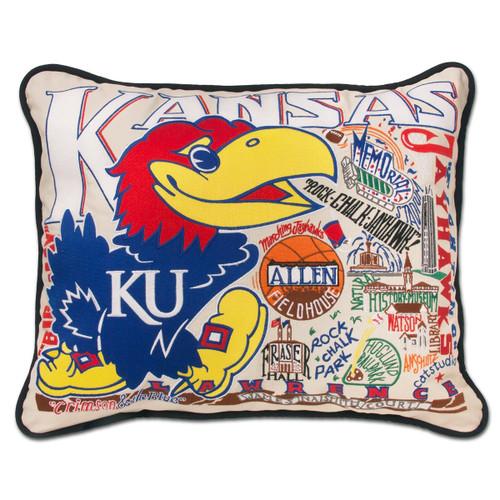 Catstudio Kansas University of Collegiate Embroidered Pillow