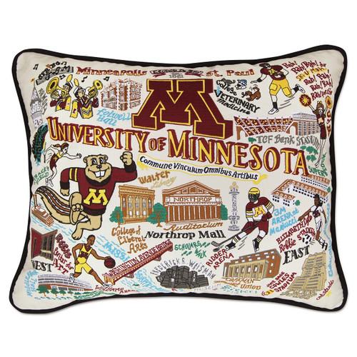 Catstudio Minnesota University of Collegiate Embroidered Pillow