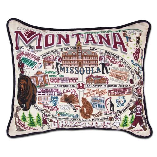 Catstudio Montana University of Collegiate Embroidered Pillow