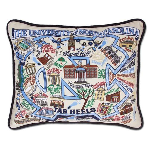 Catstudio North Carolina University of Collegiate Embroidered Pillow