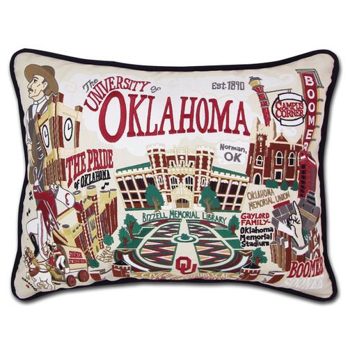 Catstudio Oklahoma University of Collegiate Embroidered Pillow
