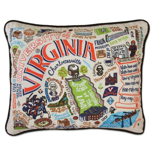 Catstudio Virginia University of Collegiate Embroidered Pillow