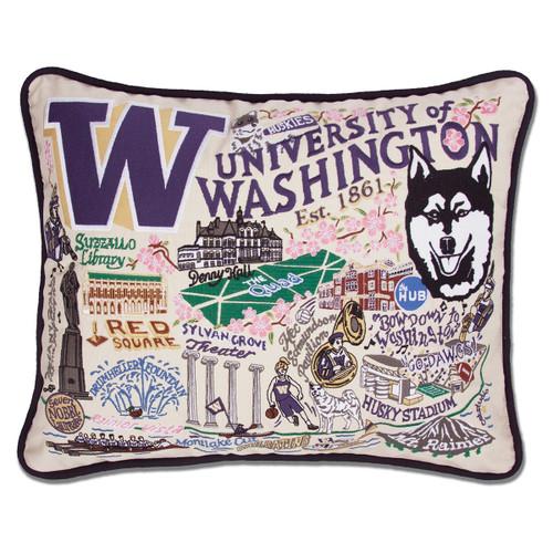Catstudio Washington University of Collegiate Embroidered Pillow