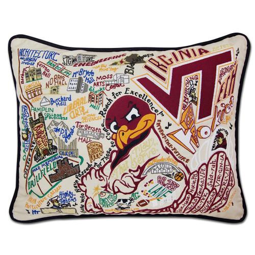 Catstudio Virginia Tech Collegiate Embroidered Pillow