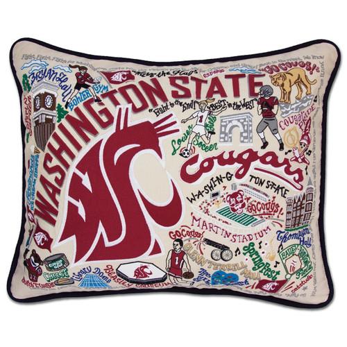 Catstudio Washington State University Collegiate Embroidered Pillow