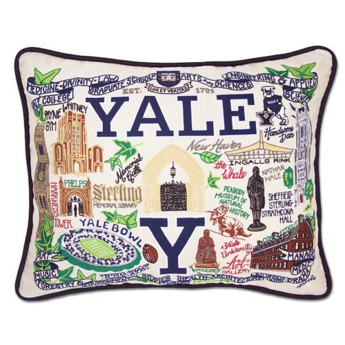 Catstudio Yale University Collegiate Embroidered Pillow