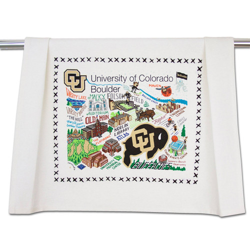 Catstudio Boulder University of Colorado Collegiate Dish Towel
