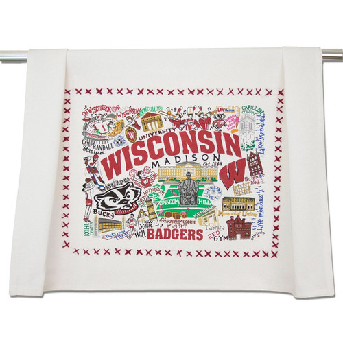 Catstudio Wisconsin University of Collegiate Dish Towel