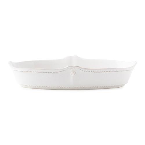 "Juliska Berry & Thread Whitewash 12"" Oblong Serving Dish"