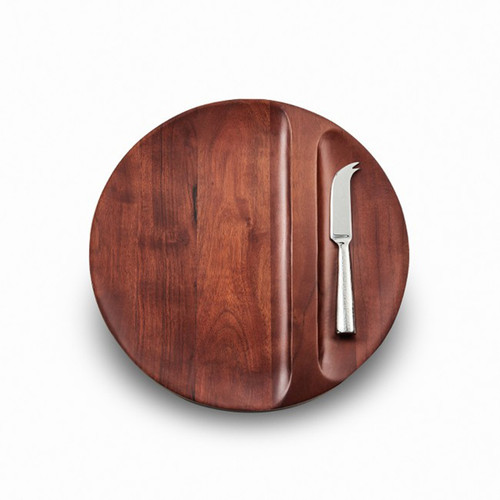 Mary Jurek Sierra Collection Divided Wood Tray with Knife