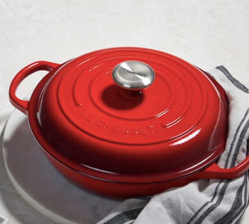 Le Creuset Signature Braiser with Stainless Steel Knob