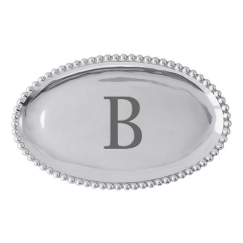 Mariposa B Pearled Platter