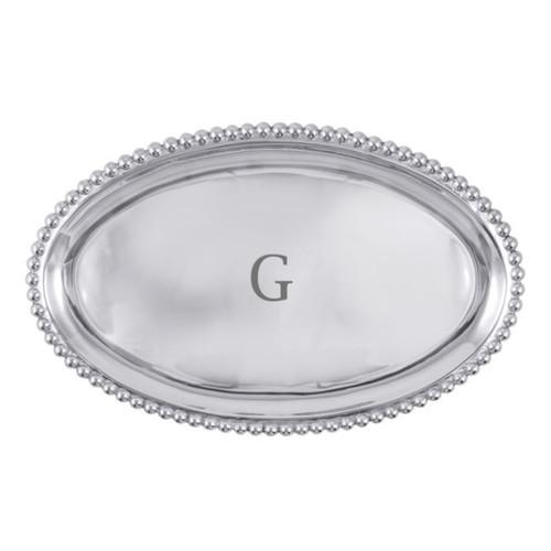 Mariposa G Pearled Platter