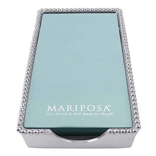 Mariposa Beaded Guest Towel Box With Insert