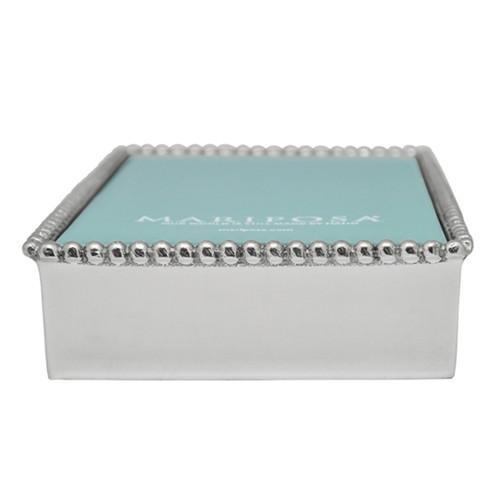 Mariposa Beaded Napkin Box With Insert