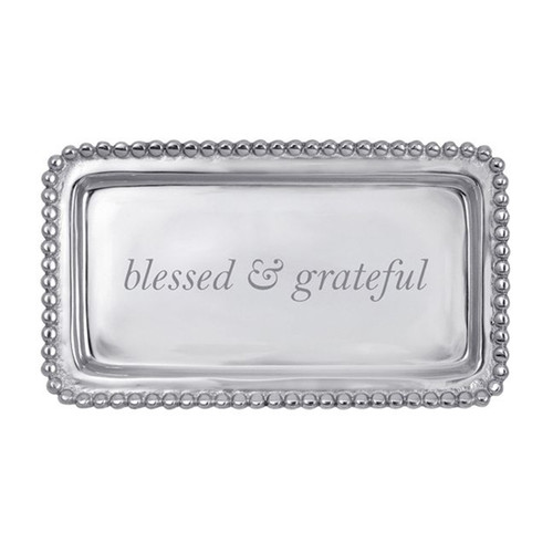Mariposa Blessed and Grateful Beaded Statement Tray