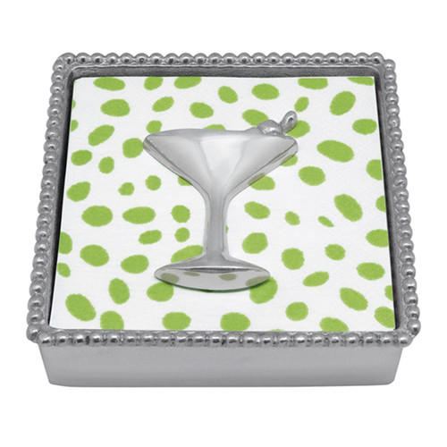 Mariposa Cocktail Beaded Napkin Box