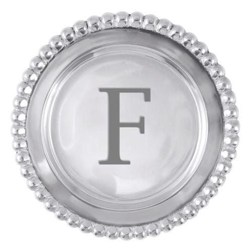Mariposa F Beaded Wine Plate