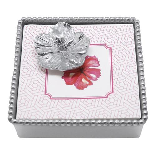 Mariposa Hibiscus Beaded Napkin Box