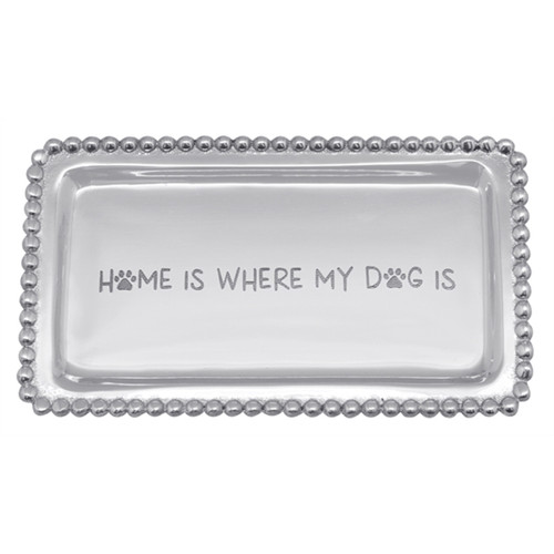 Mariposa Home Is Where My Dog Is Beaded Statement Tray