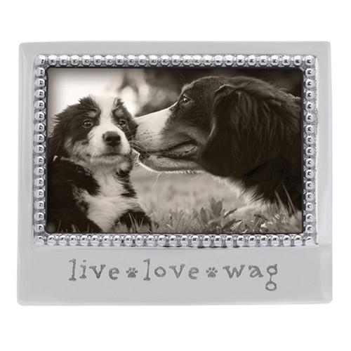 Mariposa 4 x 6 Live Love Wag Beaded Frame