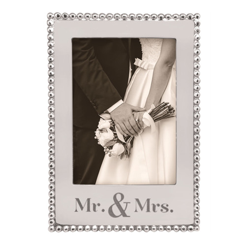 Mariposa 5 x 7 Mr and Mrs Vertical Beaded Frame