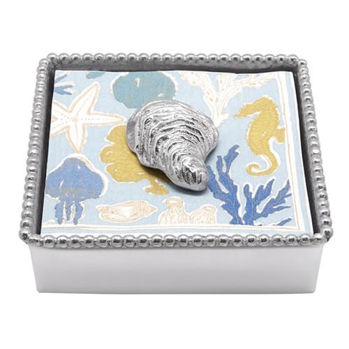 Mariposa Oyster Beaded Napkin Box