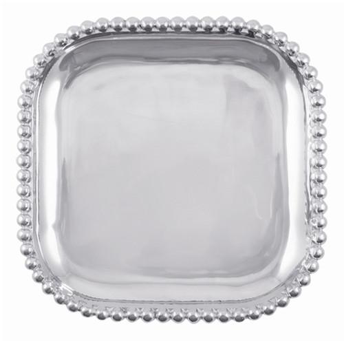 Mariposa Pearled Square Platter