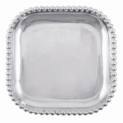 Mariposa Pearled Square Platter Single