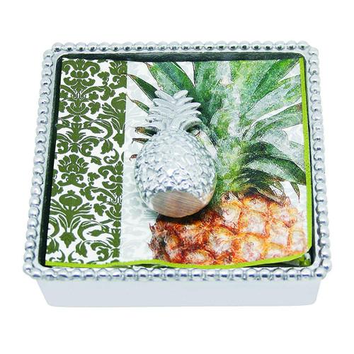 Mariposa Pineapple Beaded Napkin Box