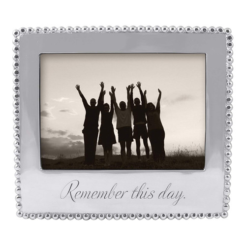 Mariposa 5 x 7 Remember This Day Beaded Frame