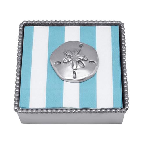 Mariposa Sand Dollar Beaded Napkin Box