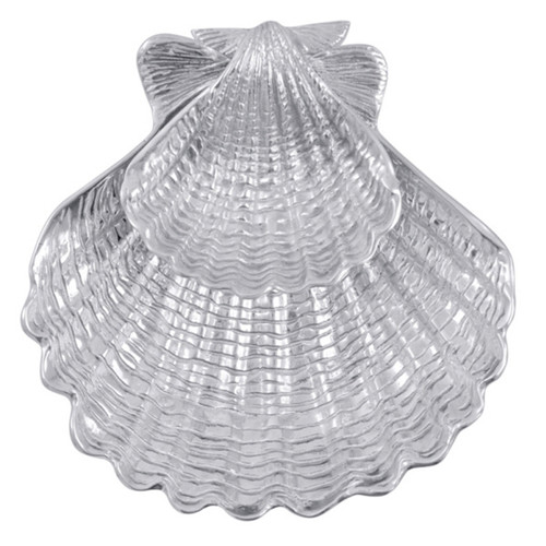 Mariposa Scallop Shell 2-Piece Chip and Dip Set