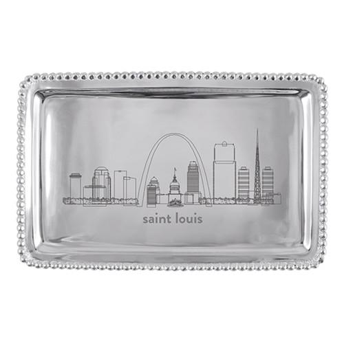 Mariposa St Louis Cityscape Beaded Buffet Tray