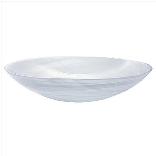 Mariposa White Alabaster Serving Bowl