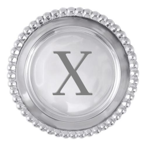 Mariposa X Beaded Wine Plate