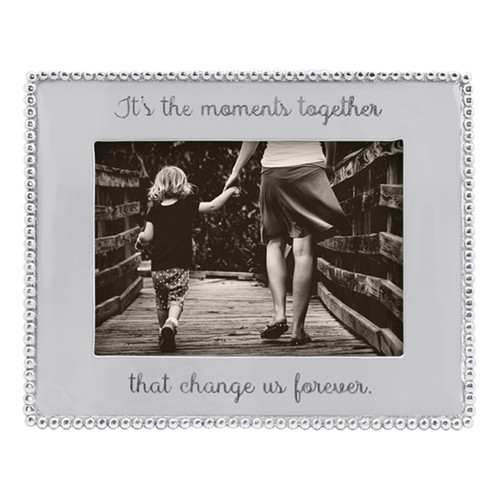 Mariposa 5 x 7 It's The Moments Together Beaded Frame