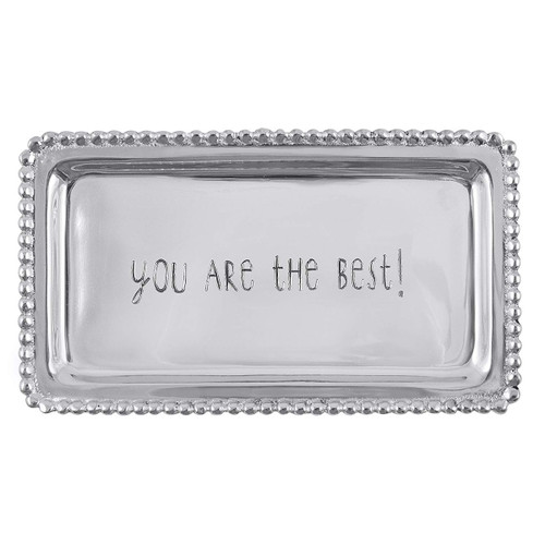 Mariposa You Are The Best! Beaded Tray