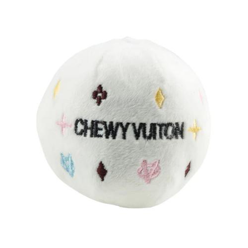 Haute Diggity Dog White Chewy Vuiton Ball