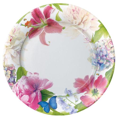 Caspari Chelsea Garden Dinner Plates - 8 Per Package