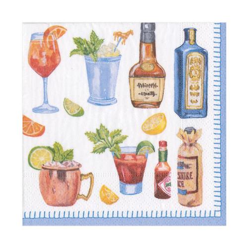 Caspari Happy Hour Cocktail Napkin - 20 Per Package