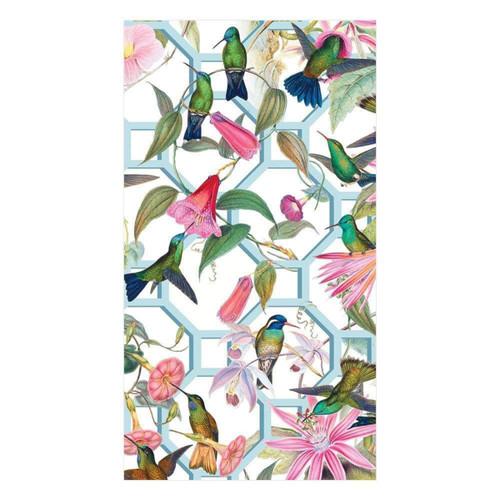 Caspari Hummingbird Trellis Paper Matchbox