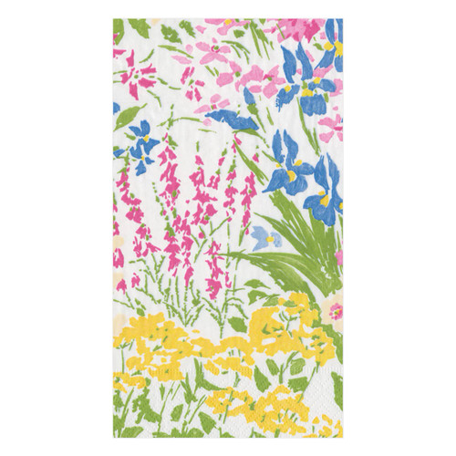Caspari Meadow Flowers Guest Towel - 15 Per Package