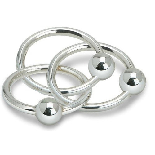 Cunill 3 Ring Ball Rattle