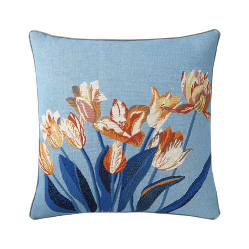 Yves Delorme 18 x 18 Iosis Delft Decorative Pillow