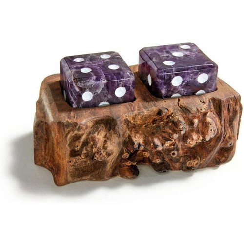 Rablabs Cape Amethyst S2 Afora Gemstone Dice Set