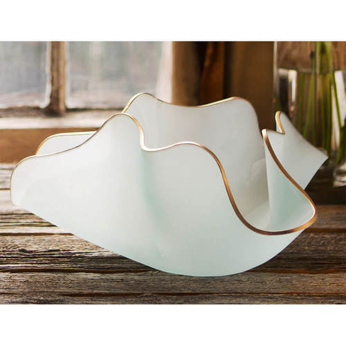 Annieglass Large Frosted Anemone Sculpture